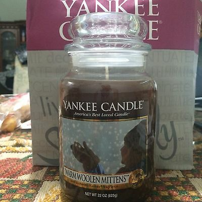 Yankee Candle Warm Woolen Mittens Large Jar Candle 22 oz My Favorite Things