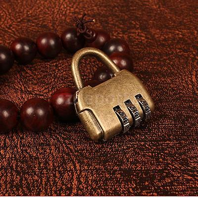 Chinese Old Style Security 3 Code Lock Password Combination Travel Padlock