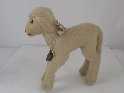 """Vintage  Steiff  Lamb 9 1/2"""" Has Ear tag and Bell"""