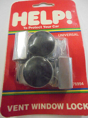 Help Parts 76994 Universal Style Chrome Vent Window Locks - Set of Two (2)