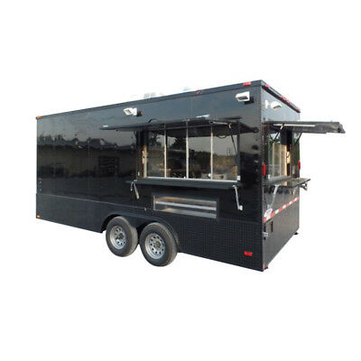Concession Trailer 8.5' X 18' Black Food Event Catering