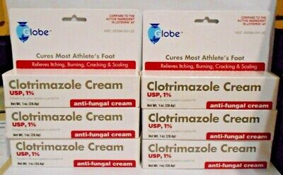 Clotrimazole 1% Anti-Fungal Cream (Compare to Lotrimin AF) 1oz Tube -6 Pack