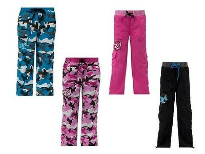 NEW Kids Zumba camo/ solid cargo pants, XS to XL!  Adjustable waist and length!