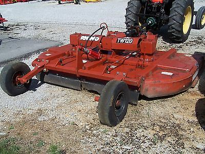 Used Rhino TW 120 10ft. Pull Type  Rotary Mower , CAN SHIP @ $1.85 loaded mile