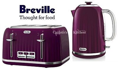 Breville Impressions Kettle and Toaster Set Purple Kettle & 4 Slice Toaster New