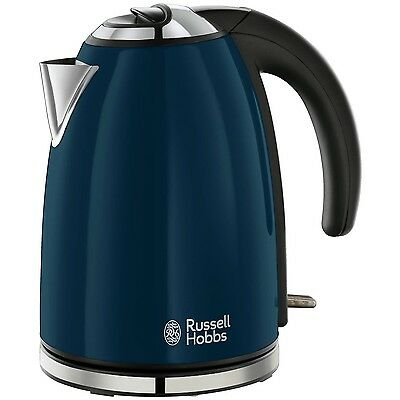 Russell Hobbs Colours Electric Kettle ● Stainless Steel, 1.7 L ● Navy Blue ● New