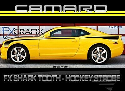 2010 Chevy Camaro Shark Tooth & Hockey Strobe Side Stripe Combo Dealer Quality