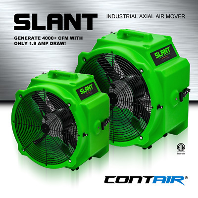 Contair® SLANT 4000 CFM Commercial Axial Air Mover Fan Blower with GFCI Green