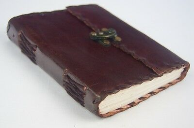 New Handmade Leather Bound Diary,Note Book-  Small Beautiful  Gift