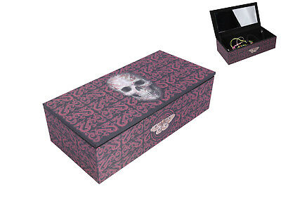 "Anne Stokes ""Oriental Skull"" Jewellery Trinket Box with Mirror Gothic"