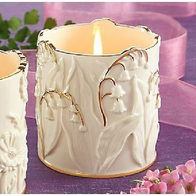 Lenox Ivory Fine China Lily Of The Valley Votive / Tea Light Candle Holder