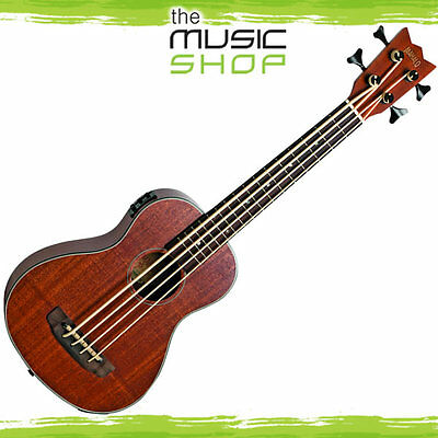 New Mahalo Electric/Acoustic Bass Ukulele with Bag - Fretted Model - MEAB1