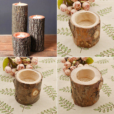 Tree Branch Wooden Candle Holder Vintage Wood Tea Light for Candlelight Dinner