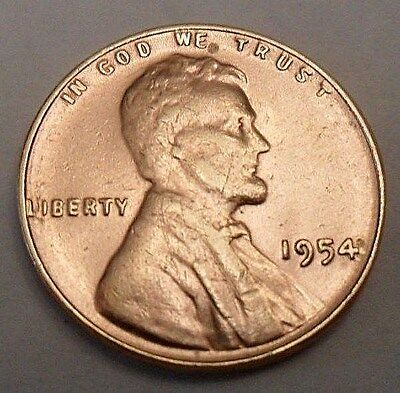 1954 P Lincoln Wheat Cent / Penny Coin **FREE SHIPPING**