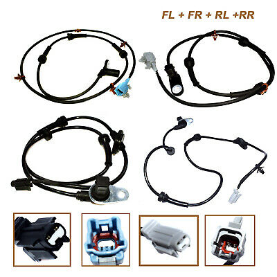 4 PCS Front & Rear L&R ABS Wheel Speed Sensor For 04-08 Nissan Maxima  3.5L New