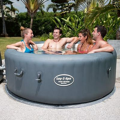 NEW 2015 Lay Z Spa Palm Springs HydroJet 4 to 6 Person Spa | Bestway Spa