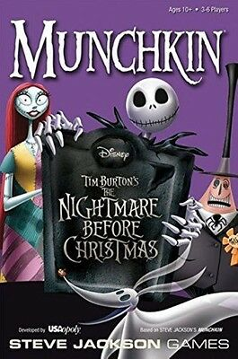USAopoly Munchkin Nightmare Before Christmas Card Game