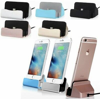 Desktop Charger Dock Sync Charge Stand Cradle for iPhone 6s 6 5s 7 Plus iPAD