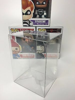 "5 Funko Pop! Protectors For 4"" Vinyls - Acid-Free, Crystal Clear, Perfect Fit!"