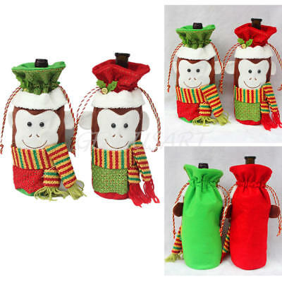 Christmas Red Wine Bottle Sets Cover Bags Champagne Xmas Home Decoration Hot