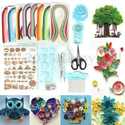 18X Paper Quilling Kit with 960 Strips Board Crimper Slotted Tool DIY Craft Tool