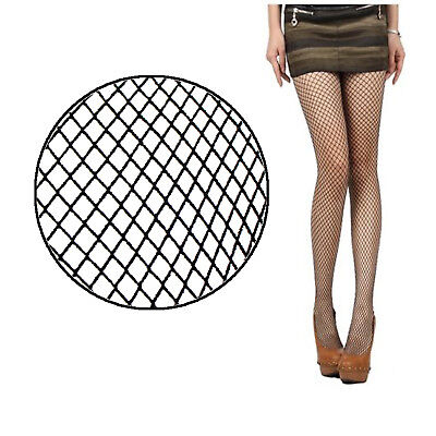 Nude Black Women Lady Fishnet Net Pattern Burlesque Hoise Pantyhose Tights