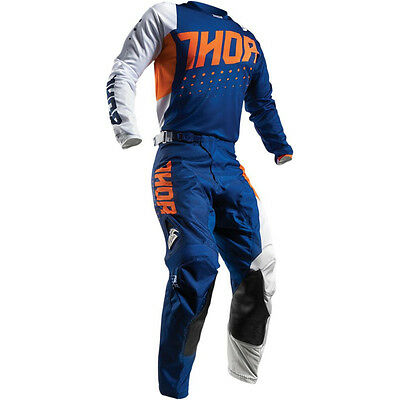 Thor Pulse Aktiv MX Enduro Combo Hose + Shirt Fox Motocross KTM Orange Navy Blau