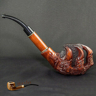 """WOODEN EXCLUSIVE UNIQUE LARGE WOODEN TOBACCO SMOKING PIPE """" Dragon Claw """""""