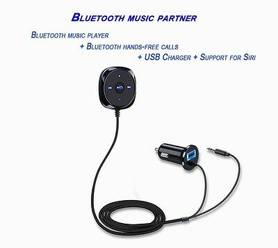 3.5mm AUX Wireless Bluetooth Car Kit Audio Music Receiver Handsfree For iphone 7