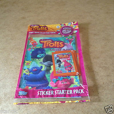 Topps Trolls Sticker Starter Pack includes 30 Stickers BRAND NEW COLLECTION