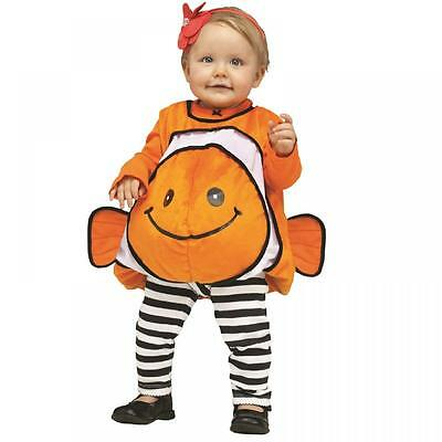Toddler Baby Goldfish Clowfish Sea Fish Halloween Fancy Dress Costume Outfit 2yr