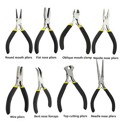 New Jewellery Making Beading Mini Pliers Tools Kit Set Round Flat Long Nose HF