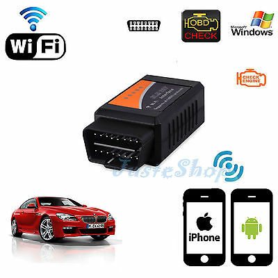 WiFi ELM327 OBD2 II Car Diagnostic Scanner Auto Scan Tool Wireless For PC/iPhone