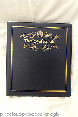 Blue 4-Ring Stamp / Cover Album Mercury The Royal Family Album Empty