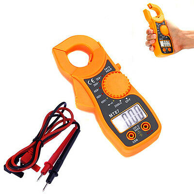 LCD Display AC/DC Multimeter Electronic Tester Digital Clamp Meter Current