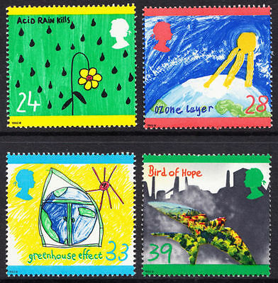 GB MNH STAMP SET 1992 Protection of Environment Green Issue SG 1629-1632