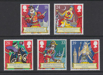 GB MNH STAMP SET 1992 Gilbert and Sullivan Operas SG 1624-1628 10% OFF FOR ANY 5