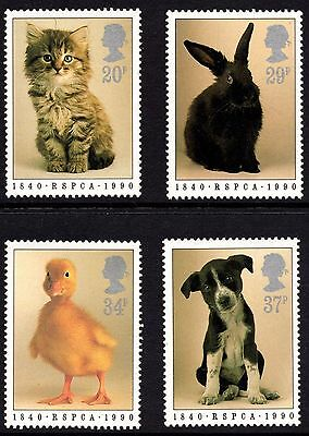 GB MNH STAMP SET 1990 150th Anniversary of RSPCA SG 1479-1482 10% OFF 5+