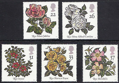 GB MNH STAMP SET 1991 Ninth World Congress of Roses SG 1568-1572 10% OFF FOR 5+