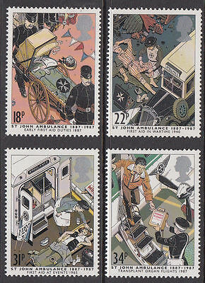 GB MNH STAMP SET 1987 St John Ambulance Centenary SG 1359-1362 UMM
