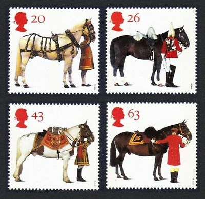 GB MNH STAMP SET 1997 All the Queen's Horses SG 1989-1992 10% OFF FOR ANY 5+