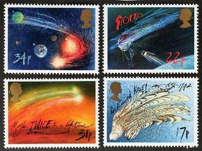 GB MNH STAMP SET 1986 Halley's Comet SG 1312-1315 UMM