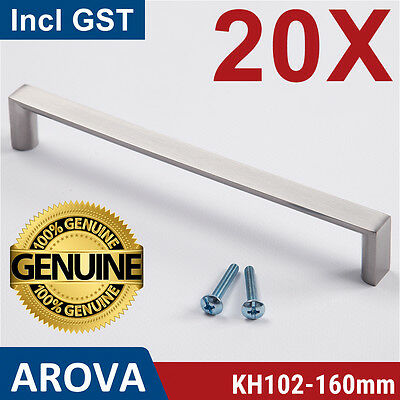20X 160mm Square Handle Pull Kitchen Cabinet Cupboard Door Stainless Steel Color