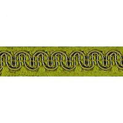 """Upholstery Scroll Gimp Chartreuse 1/2"""" Wide 36 yards 33 meters Furniture Trim"""