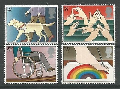 GB MNH STAMP SET 1981 Year of the Disabled SG 1147-1150 UMM