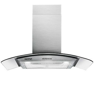 "30"" Stainless Steel Wall Mount Range Hood Stove Vent Extractor Hood 400CFM 193W"
