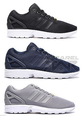 adidas ZX Flux Mens Trainers Shoes Torsion Sneakers Navy Grey Black White Summer