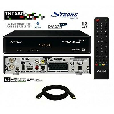 Pack Récepteur Strong SRT 7404 HD + Carte Viaccess TNTSAT + Câble HDMi 2M