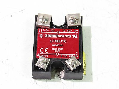 Gordos Gt60D10 Solid State Relay 3-32Vdc 10A ***xlnt***