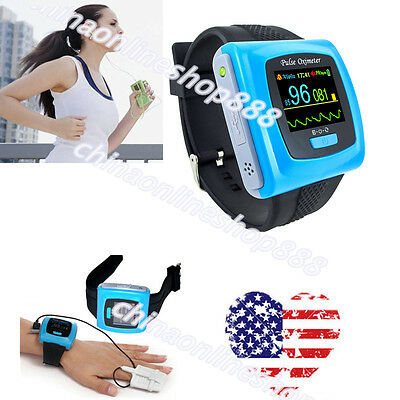 US Seller OLED Wrist Pulse Oximeter,Spo2 Monitor,Free Software,USB CMS50F CONTEC